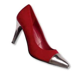 red cap shoes