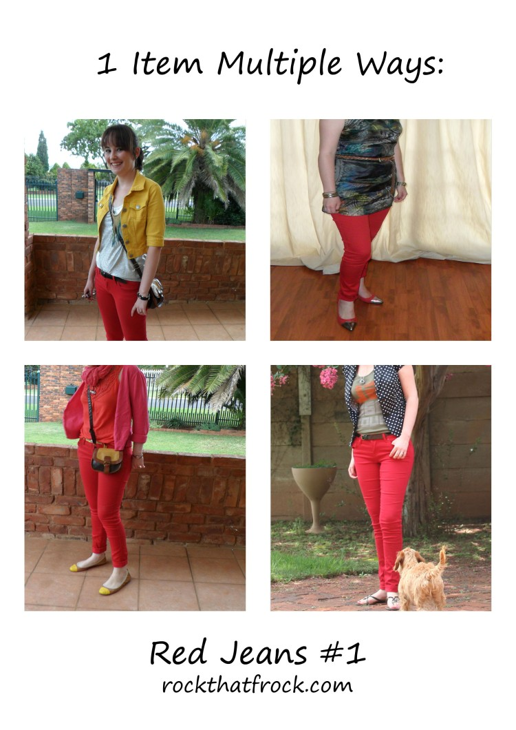 Red Jeans 4 ways discription