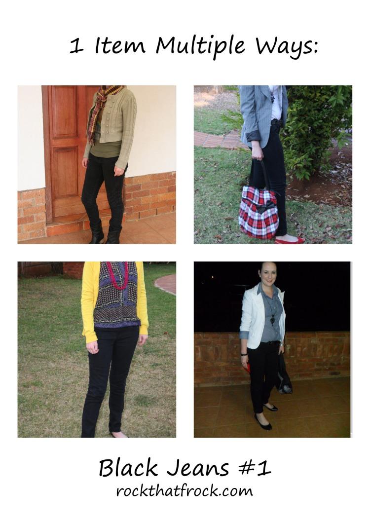 Black Jeans 4 ways