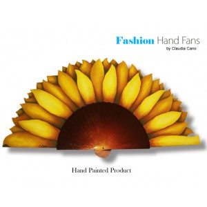 hand-fan-sunflower
