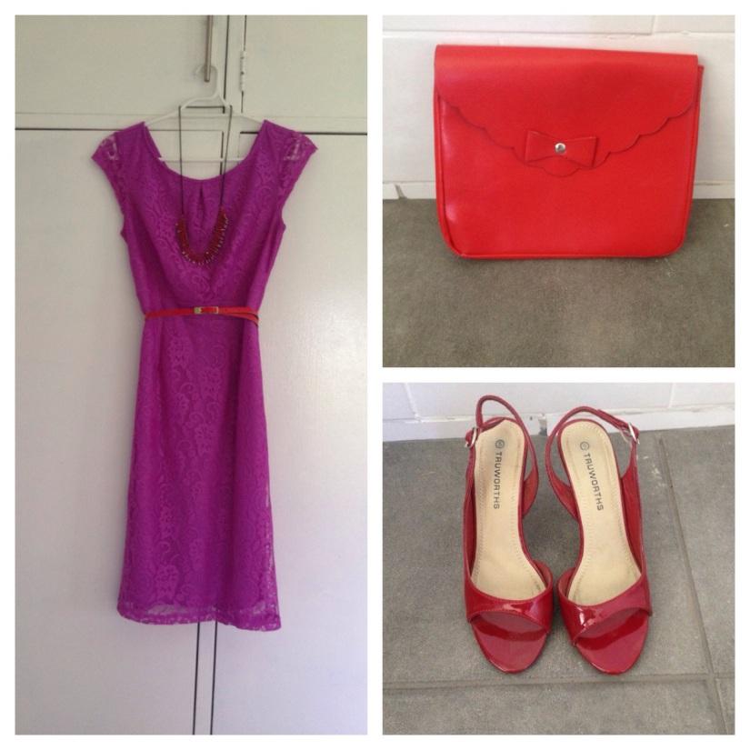 New way to wear a purple lacedress.