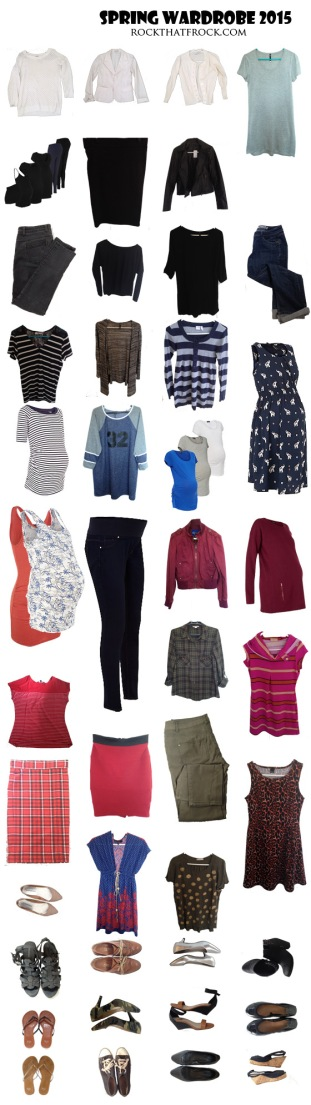 spring 2015 capsule wardrobe collage