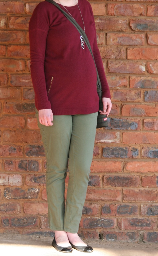 olive and maroon