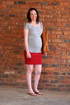 red skirt and grey 1