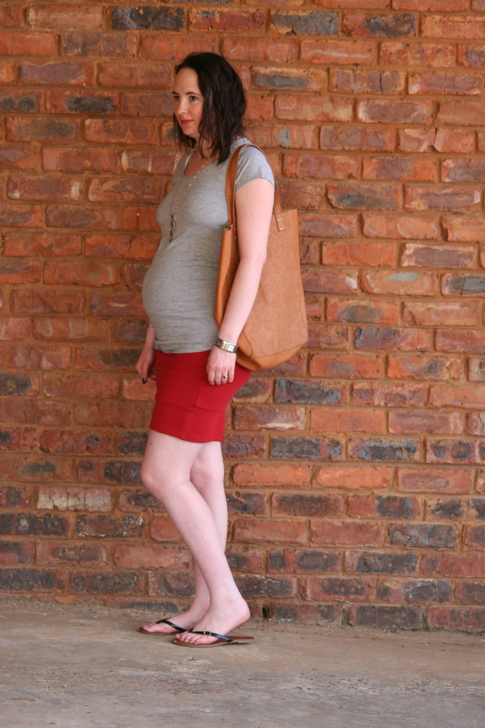 red skirt and grey 4