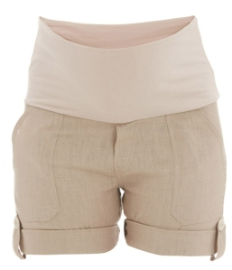 classic stone maternity shorts