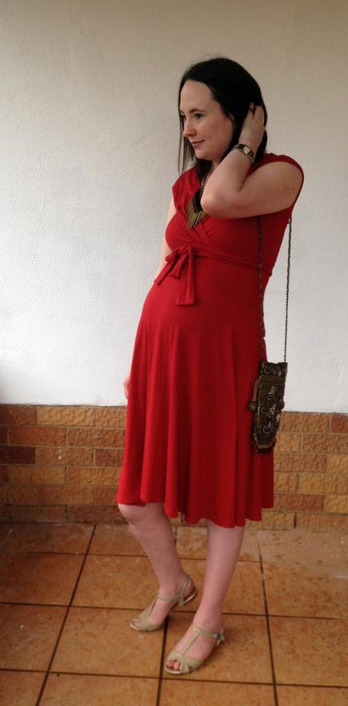 Red dress, marernity