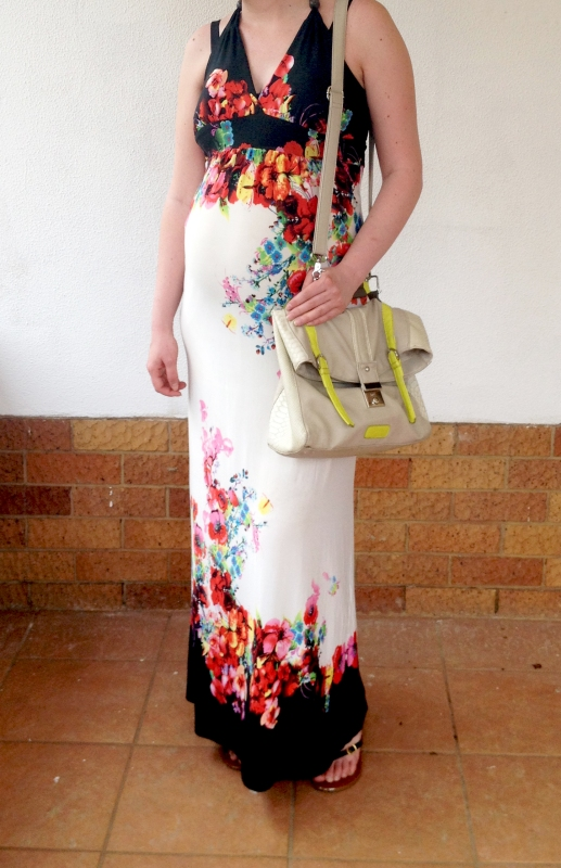 floral maxi, maternity