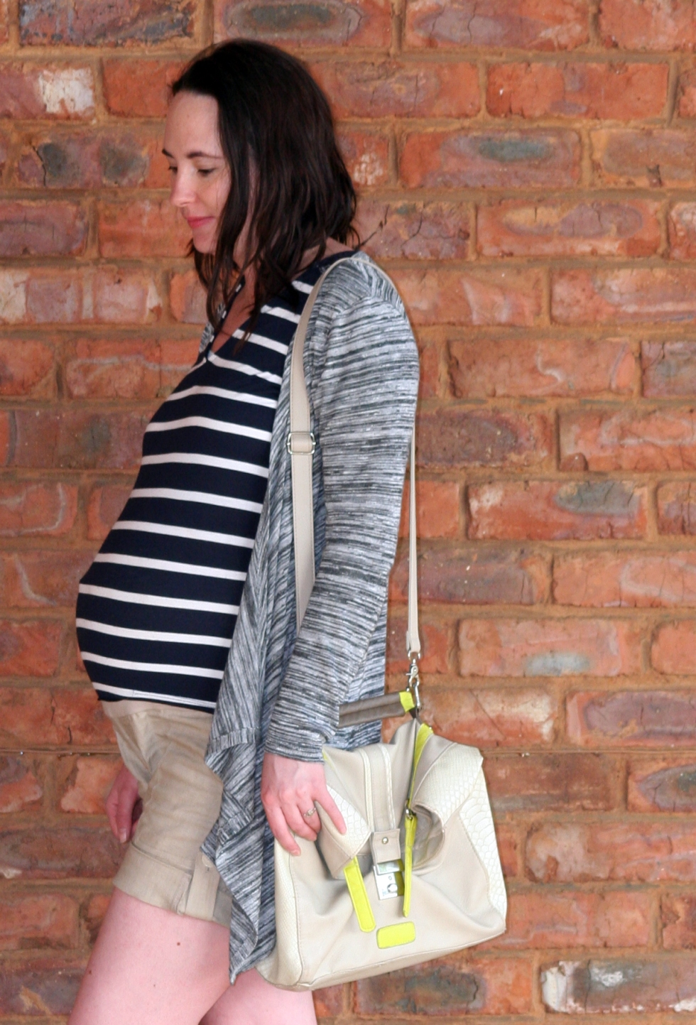 stripes and grey cardi 1